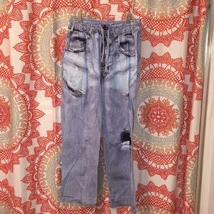 Under Disguise M 32 - 34 Pajama Pants Faux Jeans
